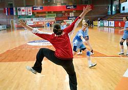 Goalkeeper Neja Soberl at practice of Slovenian Handball Women National Team, on June 3, 2009, in Arena Kodeljevo, Ljubljana, Slovenia. (Photo by Vid Ponikvar / Sportida)