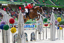Takashi Utsunomiya, (JPN), Touche Pas A Rivereuille - Team & Individual Competition Jumping Speed - Alltech FEI World Equestrian Games™ 2014 - Normandy, France.<br /> © Hippo Foto Team - Leanjo De Koster<br /> 02-09-14