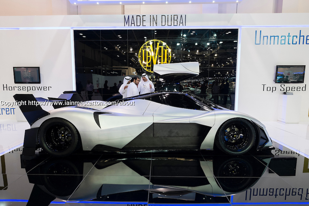 Devel prototype supercar at the Dubai Motor Show 2013 United Arab Emirates Devel prototype supercar at the Dubai Motor Show 2013 United Arab Emirates