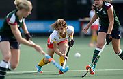 Den Bosch's Noor Omrani threads a pass through the Surbiton defence during their semi final of the EHCC 2017 at Den Bosch HC, The Netherlands, 3rd June 2017