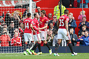 Wayne Rooney Forward of Manchester United celebrates his goal 1-0 during the Premier League match between Manchester United and Swansea City at Old Trafford, Manchester, England on 30 April 2017. Photo by Phil Duncan.