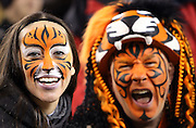 Cincinnati Bengals fans with painted faces yell out during the Cincinnati Bengals NFL week 10 regular season football game against the Cleveland Browns on Thursday, Nov. 6, 2014 in Cincinnati. The Browns won the game 24-3. ©Paul Anthony Spinelli