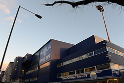 A general view of Loftus Road from the street - Photo mandatory by-line: Dougie Allward/JMP - Mobile: 07966 386802 - 04/03/2015 - SPORT - football - London - Loftus Stadium - Queens Park Rangers v Arsenal - Barclays Premier League