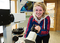 11/11/2015 Repro free:   More than 300 students visited the Marine Institute for Galway Science & Technology Festival and the Sea for Society project. At the event wasEmily Browne from Colaiste na Coirbe. Photo:Andrew Downes, xposure.