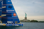 May 9, 2006-New York Harbor-Volvo Ocean Race-Yachts enter New York harbor after long sail from Baltimore. This leg of the race was won by ABN AMRO ONE..Credit: Andrew Gombert for the New York Times)