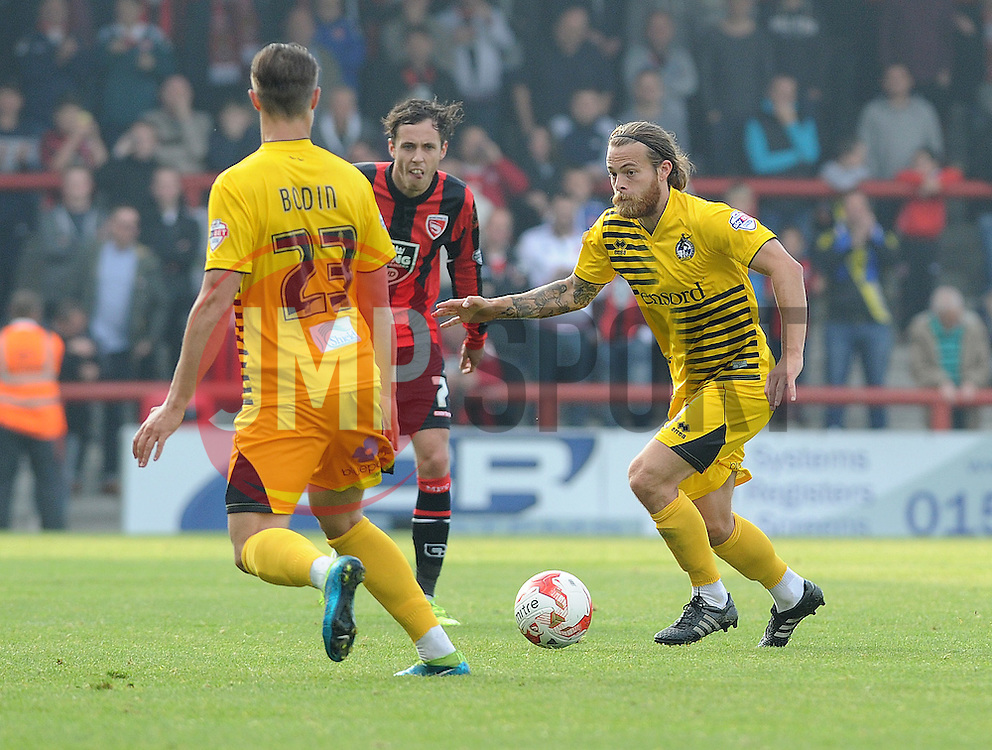 Stuart Sinclair - Mandatory byline: Neil Brookman/JMP - 07966 386802 - 03/10/2015 - FOOTBALL - Globe Arena - Morecambe, England - Morecambe FC v Bristol Rovers - Sky Bet League Two