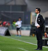 Udine, 21 settembre 2014.<br /> Serie A 2014/2015 3^ giornata. <br /> Stadio Friuli.<br /> Udinese vs Napoli.<br /> Nella foto: l'allenatore dell'Udinese Andrea Stramaccioni.<br /> Copyright foto Petrussi / Ferraro Simone