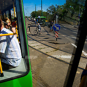 The center of Poznan from the tram<br />