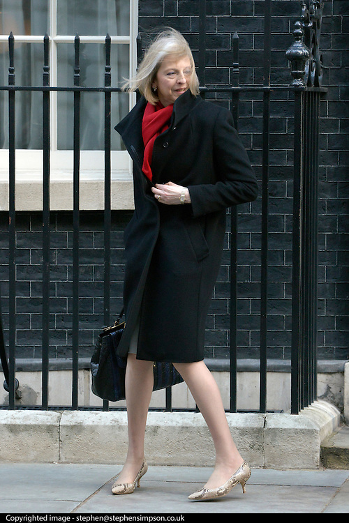 © Licensed to London News Pictures. 12/03/2013. Westminster, UK. Theresa May, Conservative MP, Secretary of State for the Home Department and Minister for Women and Equalities. Ministers in Downing Street today 12 March 2013. Photo credit : Stephen Simpson/LNP