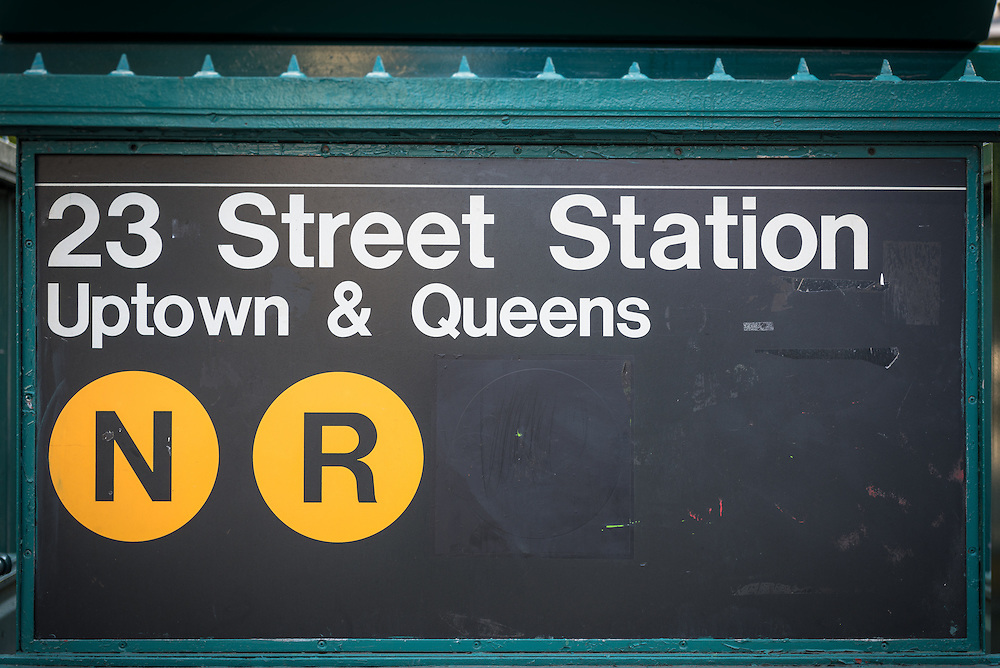 Entrance to 23rd Street Subway station,  Manhatten