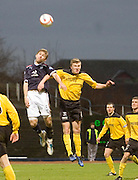 Dundee's Neil McGregor and Livingston's Paul Watson - Dundee v Livingston, IRN BRU Scottish Football League, First Division at Dens Park - ..© David Young - .5 Foundry Place - .Monifieth - .Angus - .DD5 4BB - .Tel: 07765 252616 - .email: davidyoungphoto@gmail.com.web: www.davidyoungphoto.co.uk