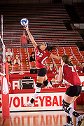 University of Arkansas Razorback Women's Volleyball action photos during the 2008-2009 season in Fayetteville, Arkansas....©Wesley Hitt.All Rights Reserved.501-258-0920.