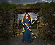 "26:06:2012..""Brave"" inspired shoot with Danna Crawford, a 16yr old schoolgirl who is is the double of the lead character Meriden. Shot at Dun Carron Fort with help from members of The Clanranald Trust...Pic:Andy Barr.www.andybarr.com.Copyright Andrew Barr Photography..No reuse without permission..andybarr@mac.com.+44 7974923919"