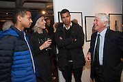 TOBY FEMIOLA; LAURA TENISON; BEN FEMIOLA; ROBIN HANBURY-TENISON, Echoes of a Vanished World. A Traveller's Lifetime in Pictures. By Robin Hanbury-Tenison. Exhibition of photographs printed by Graham Ovendon. National Theatre. South Bank. London. 23 January 2013