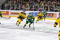 2019-11-01 | Umeå, Sweden: Björklöven (26) Oliver Larsen  full speed ahed in HockeyAllsvenskan during the game  between Björklöven and Västerås at A3 Arena ( Photo by: Michael Lundström | Swe Press Photo )<br /> <br /> Keywords: Umeå, Hockey, HockeyAllsvenskan, A3 Arena, Björklöven, Västerås, mlbv191101