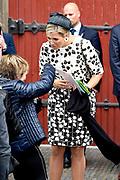 Koningin Máxima opent Asian Library Universiteit Leiden gehouden  in de Pieterskerk in Leiden<br /> <br /> Queen Máxima opens Asian Library Leiden University held in the Pieterskerk in Leiden<br /> <br /> op de foto / On the photo: Koning Maxima vertrekt / Queen Maxima Leaves
