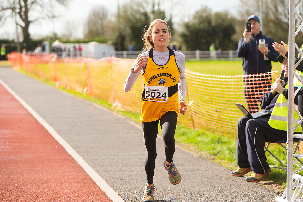 12/03/2017, Bohermeen AC 10k road Race &amp; Half Marathon<br /> Bohermeen AC Nicola Sheridan crosses the line to win the ladies section of the Bohermeen AC 10k road Race<br /> Photo: David Mullen / www.quirke.ie &copy;John Quirke Photography, Unit 17, Blackcastle Shopping Cte. Navan. Co. Meath. 046-9079044 / 087-2579454.<br /> ISO: 640; Shutter: 1/2000; Aperture: 4; <br /> File Size: 2.8MB<br /> Actuations: