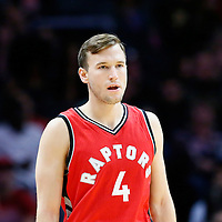 5 October 2016: Toronto Raptors guard Brady Heslip (4) is seen during the Los Angeles Clippers 104-98 victory over the Toronto Raptors, at the Staples Center, Los Angeles, California, USA.