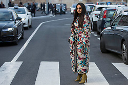 Fashion: street style at Milan Fashion Week 2018 outside of the Missoni show in Milan on February 24, 2018. 24 Feb 2018 Pictured: Street style at Milan Fashion Week 2018 outside of the Missoni show in Milan on February 24, 2018. Photo credit: Stefano Costantino / MEGA TheMegaAgency.com +1 888 505 6342
