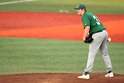 21 April 2015:  Relief pitcher Brian Henry during an NCAA Inter-Division Baseball game between the Illinois Wesleyan Titans and the Illinois State Redbirds in Duffy Bass Field, Normal IL