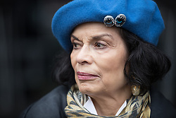 November 12, 2016 - Manchester, Greater Manchester, UK - Manchester , UK . BIANCA JAGGER . Approximately 2000 people march and rally against Fracking in Manchester City Centre  (Credit Image: © Joel Goodman/London News Pictures via ZUMA Wire)