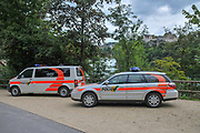 Swiss police cars