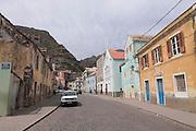 City Center with church, Ribeira Grande, San Antao. Cabo Verde. Africa.