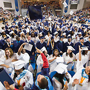 052511Newark DE: 052511-DelcastleTechHSgraduation-SS. 348 Delcastle students celebrate during the final moment of Delcastle Tech High School Graduation Ceremony held Wednesday, May 25th 2011, at The Bob Carpenter Center in Newark Delaware.<br /> <br /> Special to The News Journal/SAQUAN STIMPSON