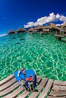 Snorkeling gear, Hilton Moorea Lagoon Resort, island of Moorea, French Polynesia.