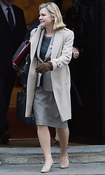 Downing Street, London, November 29th 2016. Education Secretary Justine Greening leaves 10 Downing Street following the weekly cabinet meeting.