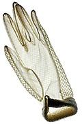 white translucent glove
