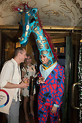 GIANNI GIRAFFE,  Gazelli host The Colbert Art Party last night at  LouLou's, The Bauer in Venice, Venice Biennale, Venice. 7 May 2015
