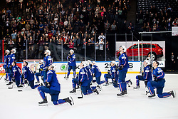Players of France after the 2017 IIHF Men's World Championship group B Ice hockey match between National Teams of France and Slovenia, on May 15, 2017 in AccorHotels Arena in Paris, France. Photo by Vid Ponikvar / Sportida