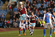 Burnley midfielder Scott Arfield  wins the header during the Sky Bet Championship match between Burnley and Blackburn Rovers at Turf Moor, Burnley, England on 5 March 2016. Photo by Simon Davies.