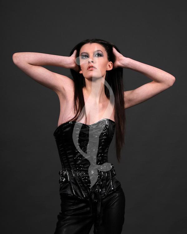 female model posing in an urban fantasy outfit Urban Fantasy/Paranormal Female