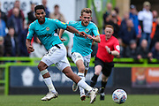 Forest Green Rovers Reuben Reid(26) passes the ball forward during the EFL Sky Bet League 2 match between Forest Green Rovers and Port Vale at the New Lawn, Forest Green, United Kingdom on 8 September 2018.