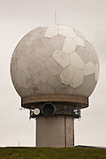 Golf ball style of radome, which  protects the radar antennae from adverse weather, Lowther Hill Radar Station, Southern Uplands, Scotland