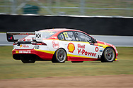 BATHURST, NSW - OCTOBER 04: Scott McLaughlin in the Shell V-Power Racing Team Ford Falcon slides off the track at the Supercheap Auto Bathurst 1000 V8 Supercar Race at Mount Panorama Circuit in Bathurst, Australia. (Photo by Speed Media/Icon Sportswire)