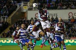 Jonathan Kodjia of Aston Villa clears the ball from another Reading attack - Mandatory by-line: Jason Brown/JMP - 18/10/2016 - FOOTBALL - Madejski Stadium - Reading, England - Reading v Aston Villa - Sky Bet Championship