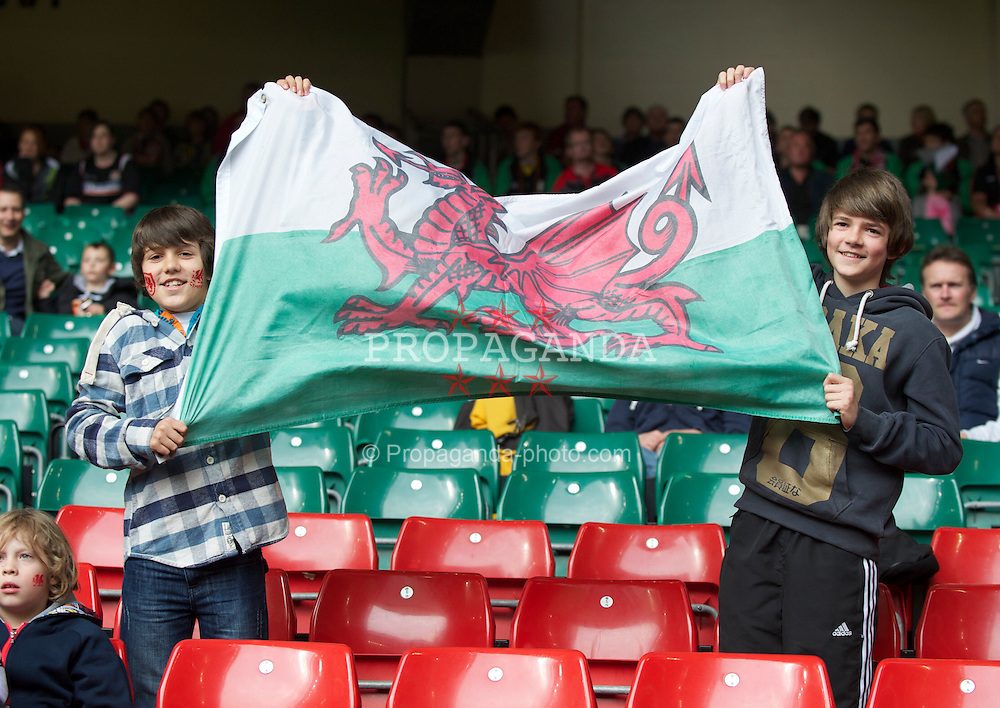 CARDIFF, WALES - Saturday, March 26, 2011: A Wales supporter during the UEFA Euro 2012 qualifying Group G match against England at the  Millennium Stadium. (Photo by David Rawcliffe/Propaganda)