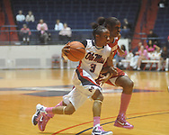"Ole Miss' Valencia McFarland (3) vs. Arkansas in a women's college basketball game at C.M. ""Tad"" Smith Coliseum in Oxford, Miss. on Thursday, February 17, 2011. Arkansas won 56-53."