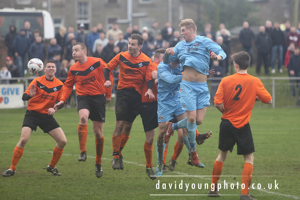 Fairfield (blue) v Cranhill (Tangerine) - Fosters Scottish Sunday Cup Semi Final North End Park<br /> <br />  - &copy; David Young - www.davidyoungphoto.co.uk - email: davidyoungphoto@gmail.com