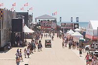 Huntington Beach, CA - August 06: Surfing fans in the vendor area on Finals day at the Vans US Open of Surfing in Huntington Beach, California on August 6, 2017. (Photo Jim Kruger / Kruger-images.com)