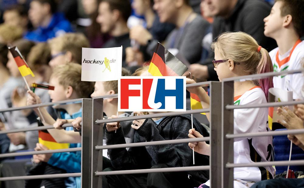 BERLIN - Indoor Hockey World Cup<br /> Women: Ukraine - Germany<br /> foto: German fans.<br /> WORLDSPORTPICS COPYRIGHT FRANK UIJLENBROEK