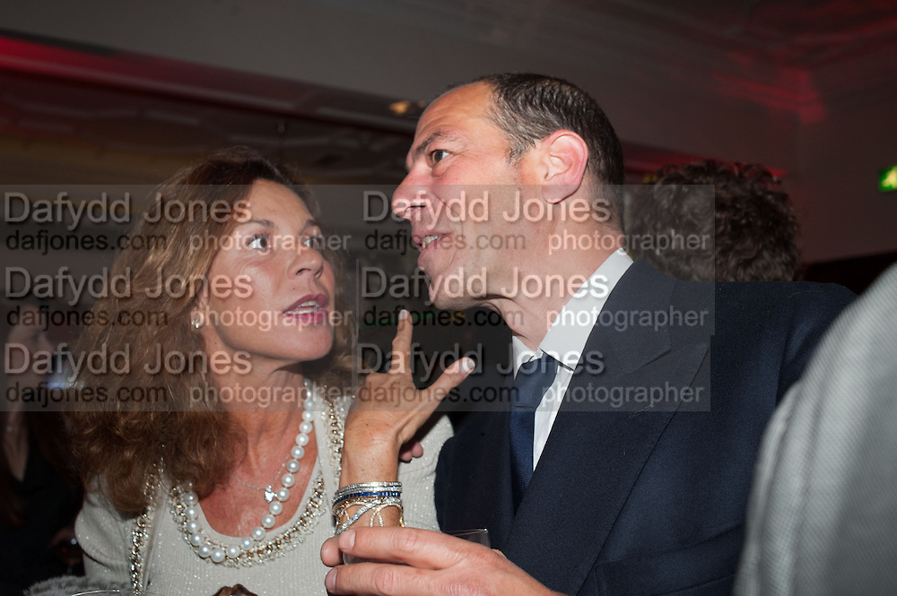 VIOLETTA CAPROTTI VEDOVI; EMANUELE PALAU, Rocco Forte's Brown's Hotel Hosts 175th Anniversary Party, Browns Hotel. Albermarle St. London. 16 May 2013