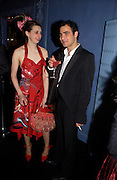 Anna Maconochie and Zac Posen.  Zac Posen Spring/ Summer collection launch party. The Blue Bar, Berkeley Hotel. London. 7 March 2004. Dafydd Jones,  ONE TIME USE ONLY - DO NOT ARCHIVE  © Copyright Photograph by Dafydd Jones 66 Stockwell Park Rd. London SW9 0DA Tel 020 7733 0108 www.dafjones.com