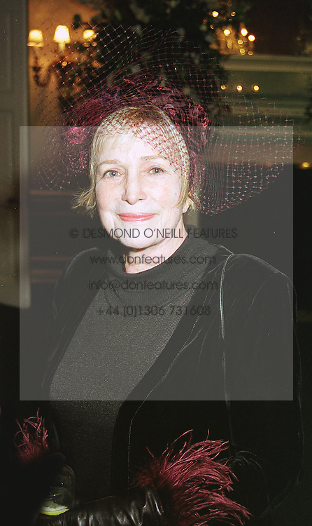 Writer MRS SHIRLEY CONRAN, at a party in London on 5th May 1999.MRT 5