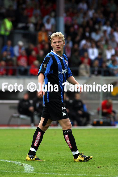 25.07.2009, Pietarsaari, Finland..Veikkausliiga 2009 - Finnish League 2009.FF Jaro - FC Inter Turku.Ats Purje - Inter.©Juha Tamminen.