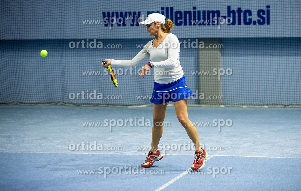 Anja Regent at BTC Medot novoletni rekreativni teniski turnir dvojic 2020, on January 18, 2020 in BTC Millenium centre, Ljubljana, Slovenia. Photo by Vid Ponikvar / Sportida