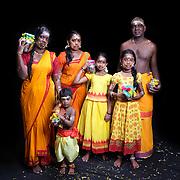 Thimpathi, Wivashini Darshana (10), Sarvika Raj (9), Jasper Harish Raj (3)